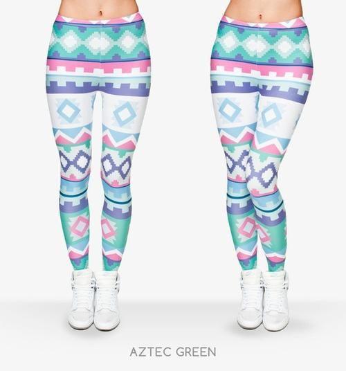 Preppyco Aztec Print Leggings - Shop Preppy & Co