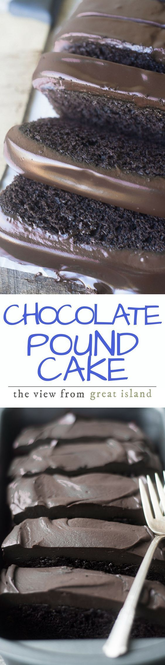 Everyone should have a rich Chocolate Pound Cake in their recipe file, preferably right up front — this one is deep, dark, and topped with a creamy chocolate ganache. | dessert | cake | chocolate | ganache