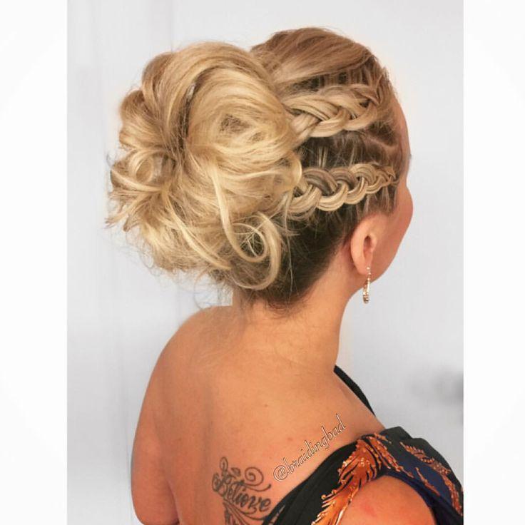 Double dutchbraided #updo for the ever so lovely @katriutula  Perfect gala #hairstyle  #urheilugaala . . #urheilugaala2017 #braidideas…
