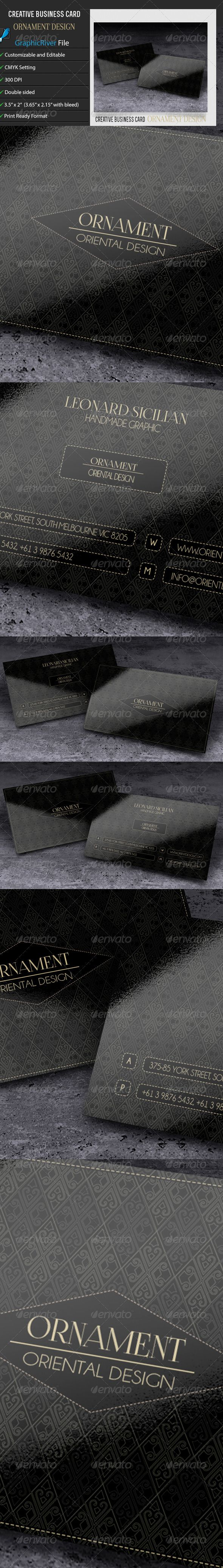 Creative Business Card – Ornament Design