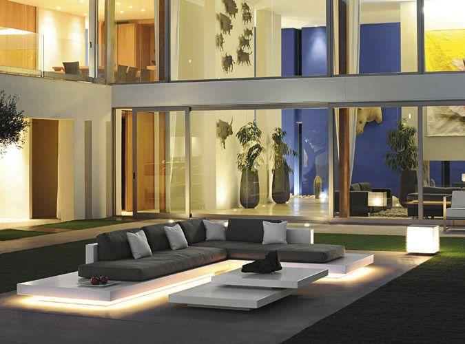 Modular sofa / contemporary / outdoor / fiberglass - PLATFORM by Florian Viererbl - RAUSCH Classics GmbH