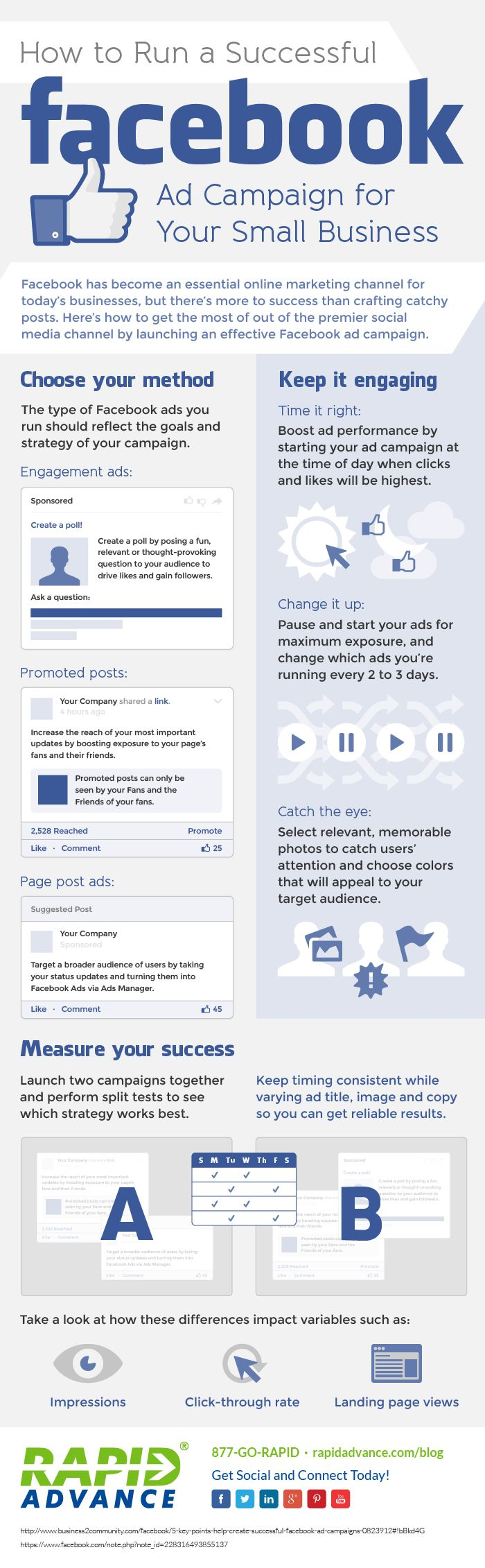 How to Run a Successful #Facebook Ad Campaign for Your Small Business - #socialmedia #Infographic