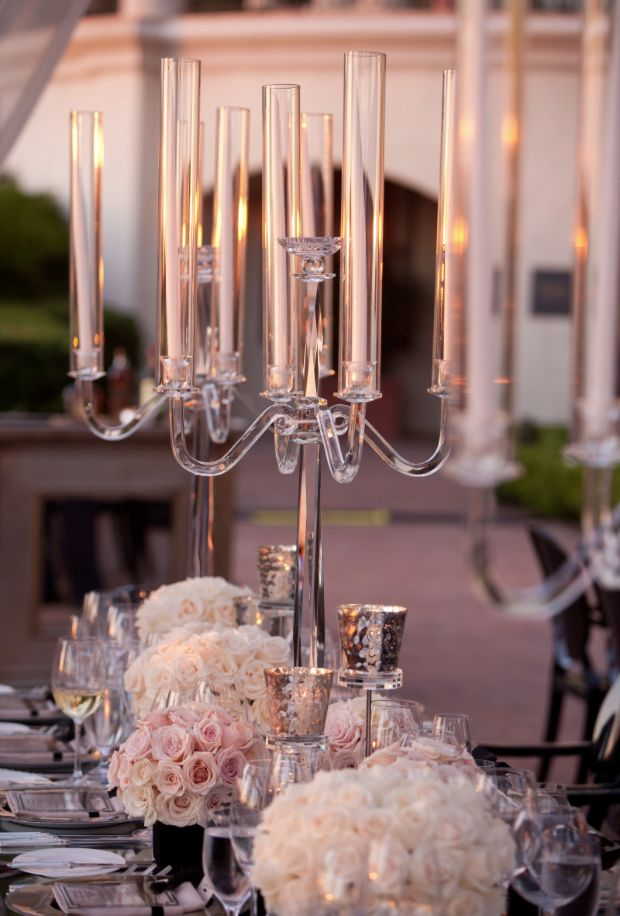 Sophisticated Wedding Reception Ideas from White Iilac Inc Part II... Perfect for the wedding that doesn't allow open flame candles.