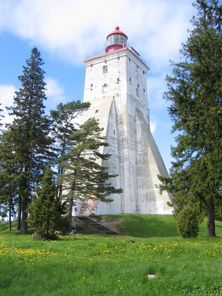 Photo of Kõpu Peninsula Lighthouse - where in the world is this that it needs to be so fortress-like in its construction?>>An Estonian island, but I need to research more.