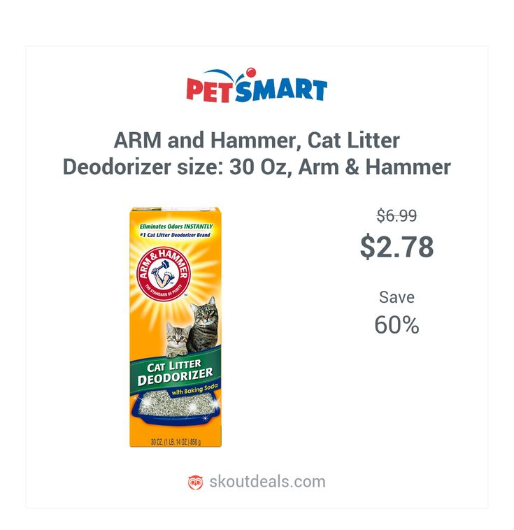 Add an extra boost of freshness to your litter box. Arm & Hammer Cat Litter Deodorizer with baking soda destroys odors instantly in all types of litter so your box stays first-day fresh longer. Moisture activated scent refreshes litter every time your cat uses the box, and innovative technology helps prevent clumps from sticking to the bottom of your box. Features: Deodorizing Color: White Package Weight: 30 oz