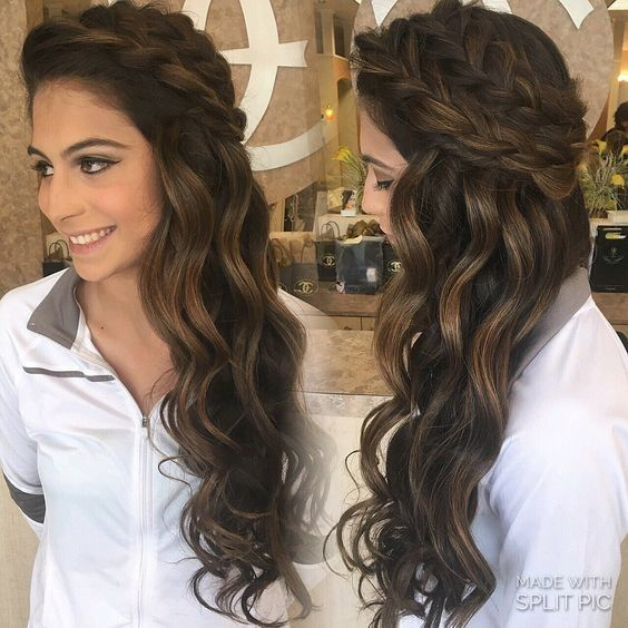 Quinceanera Hairstyles On The Side : Best 25 homecoming hairstyles ideas on pinterest prom