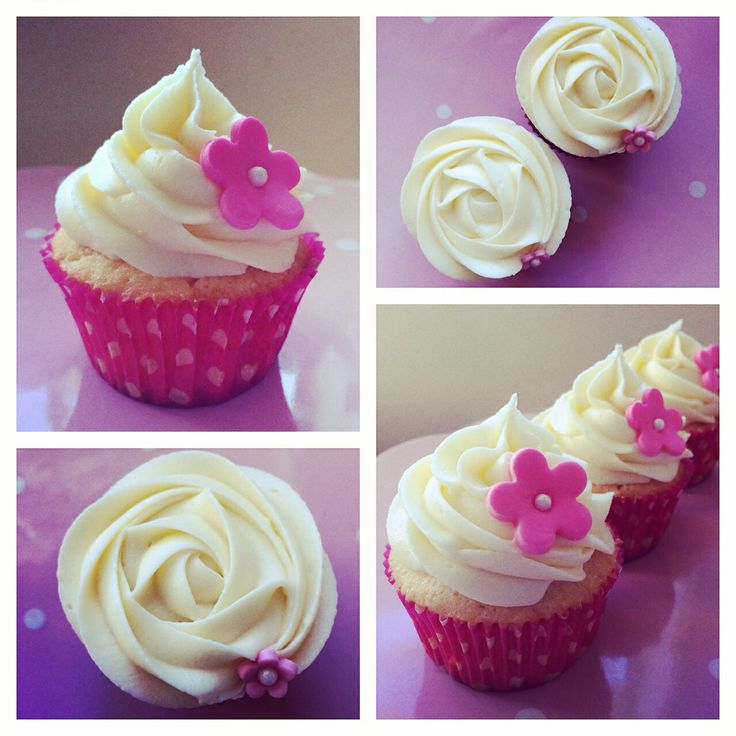Yum! Lemon curd filled vanilla cupcakes with cream cheese frosting from Delish Cakes & Cupcakes Www.delishcakes.co.nz
