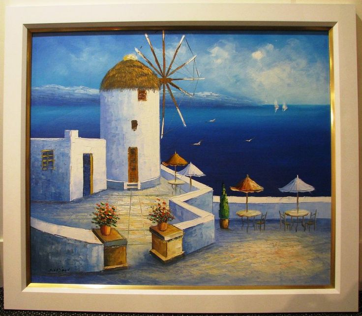 Niko Jaou original Greek Isle Coastal scene