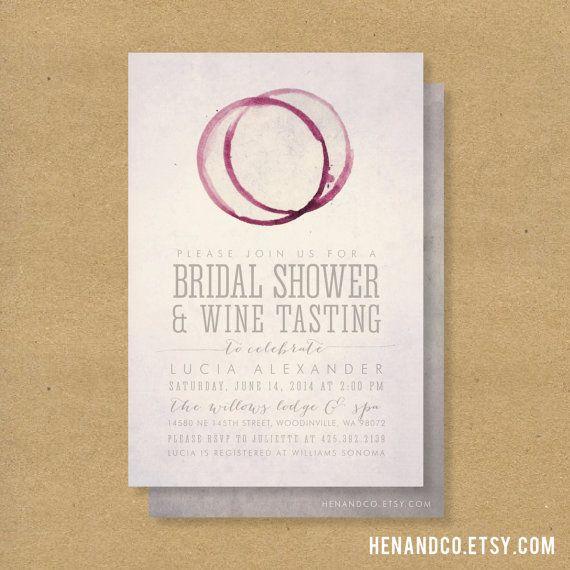 WINE TASTING Bridal Shower Invitation  Printable  by HENANDCO, $16.00 // winery wine tasting vineyard wedding shower