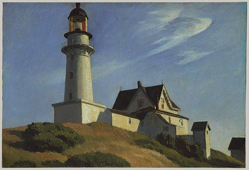 Edward Hopper, The Lighthouse at Two Lights, 1929, oil on canvas.  I respond to the serenity and stability of this scene.  I want to go there and relax.