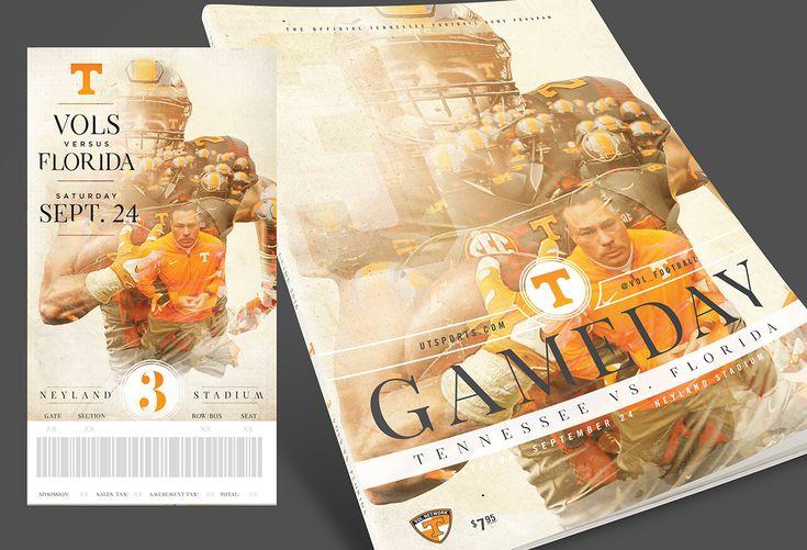 Tennessee Football Season Tickets & Program Covers 2016 on Behance
