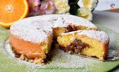 Torta nuvola all'arancia e nutella, un dolce semplice, veloce, con poco lievito! talmente soffice che si scioglie in bocca..una libidine da non perdere!