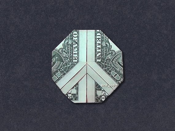 peace sign money origami dollar bill art origami