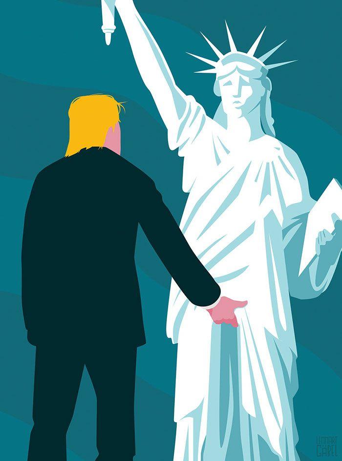 Donald Trump est président des USA, les caricaturistes Illustrent leurs ressentis