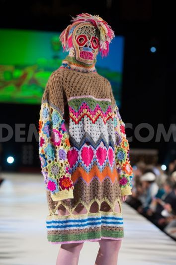 Katie Jones showcases colourful crochet at Brighton Fashion Week