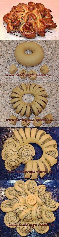 Пирог с маком   РАЗДЕЛКА ТЕСТА. СПОСОБЫ ФОРМИРОВАНИЯ булочек,пирогов и многое другое   Постила