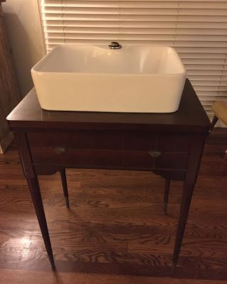 Converting Vintage Sewing Machine Cabinet Into Vessel Sink