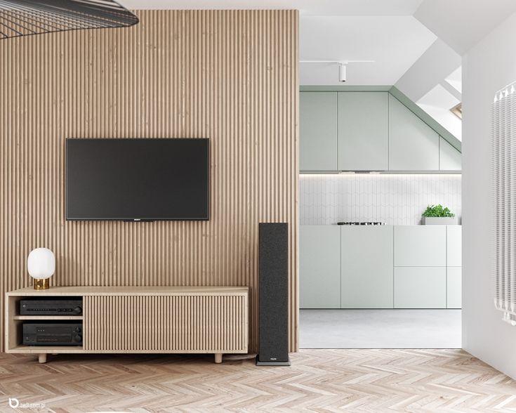 Strefa Dzienna Z Widokiem Na Kuchnie Wnetrze Zainspiruj Sie Z Foorni Pl Interior Flooring Living Room