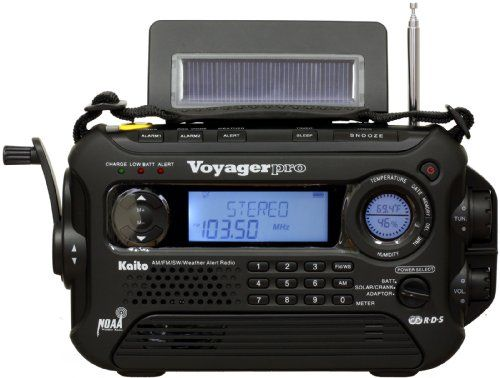Kaito Voyager Pro KA600 Digital Solar/Dynamo AM/FM/LW/SW & NOAA Weather Emergency Radio with Alert & RDS, Black This is more my speed.