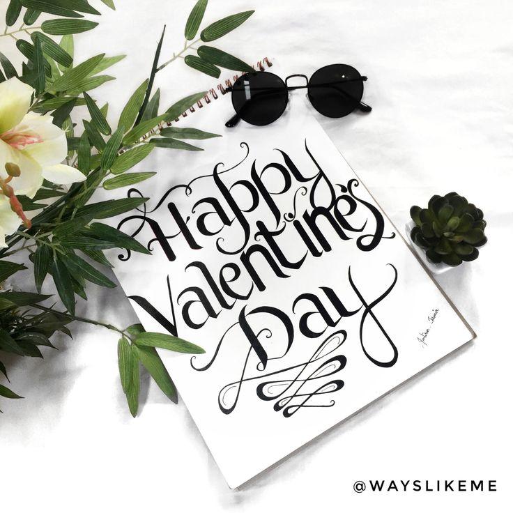 Happy Valentine's Day peeps 💕 #valentinesDay #Sketch #Calligraphy