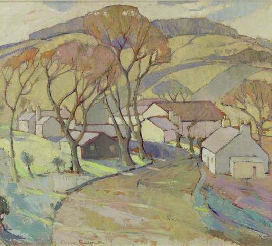 Anne Redpath winding path painting.