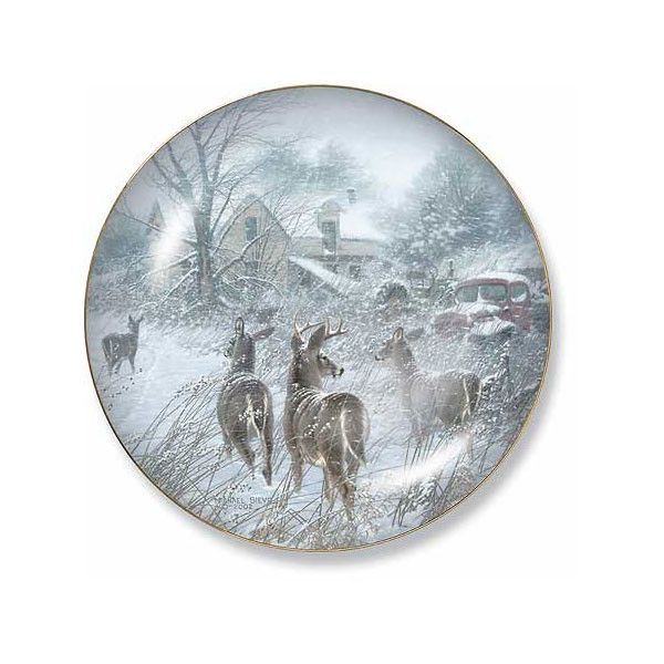 Wild Wings Homesteaders Deer Decorative Plate