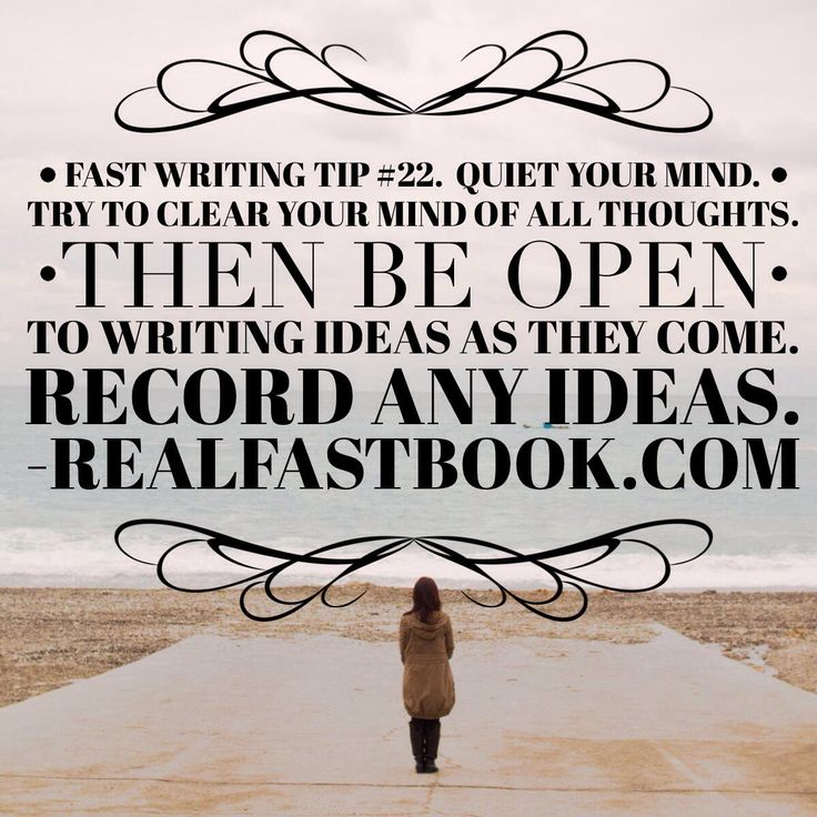 how to clear your mind for writing