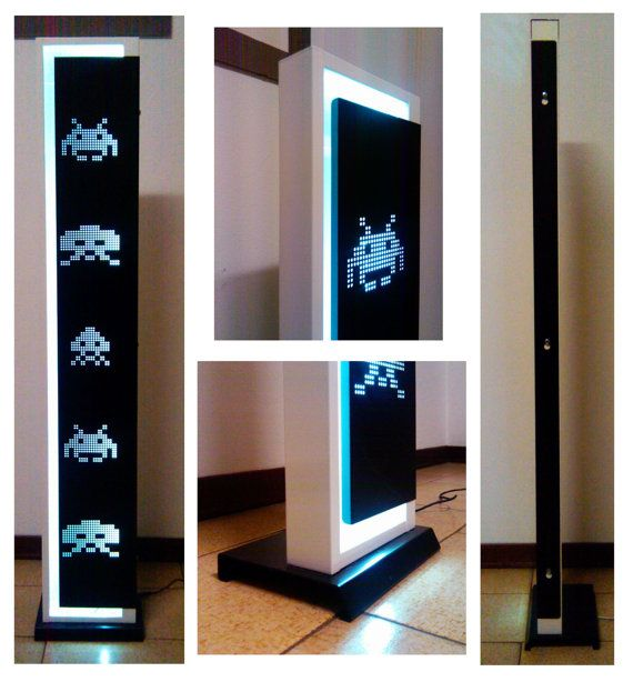 Space Invaders LED Lamp - Black layout