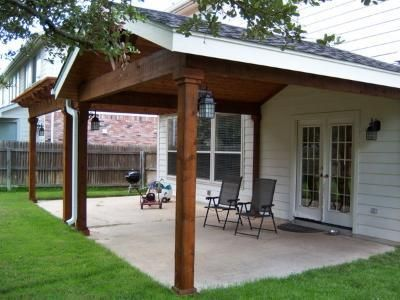 Traditional And Bright Covered Porch In Marble Falls