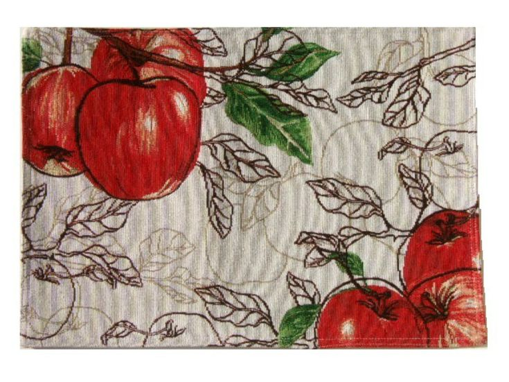 Apple Themed Placemats Red Apples Kitchen Linens Set Of 4 Placemats By  Croftu0026Barrow $24.95