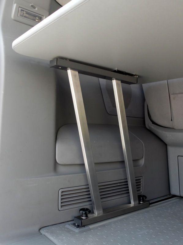 Multiflexboard + Scharnier, aus EDELSTAHL, VW T5 Multivan Bettverlängerung