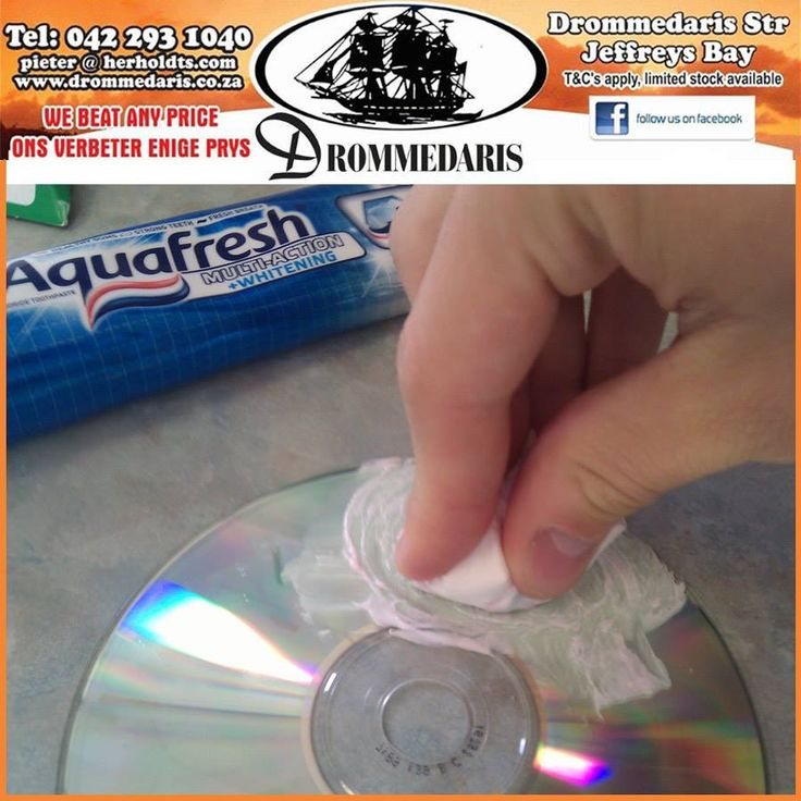Did you know that you can use toothpaste and a cotton ball to repair your CD's and DVD's? #householdtips #lifestyle #trivia