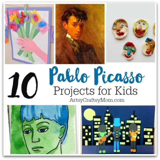 10 Pablo Picasso Projects for Kids - Pablo Picasso Lesson Plans, Activities, Coloring Pages, and More. Artist Study & Art Appreciation