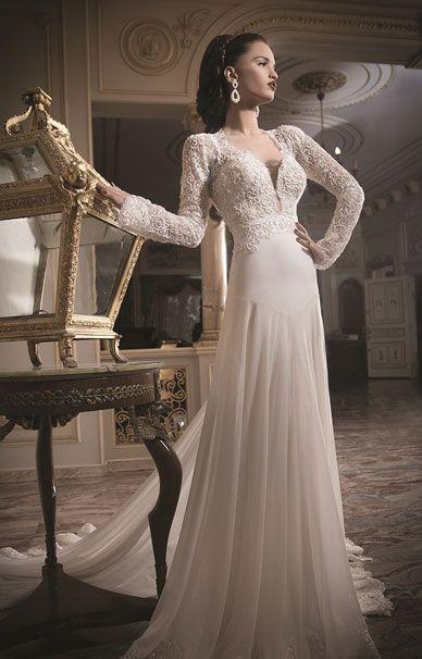 Свадебные платья Daniel Romi Kadosh с длинными рукавами   смотреть фото цены купить