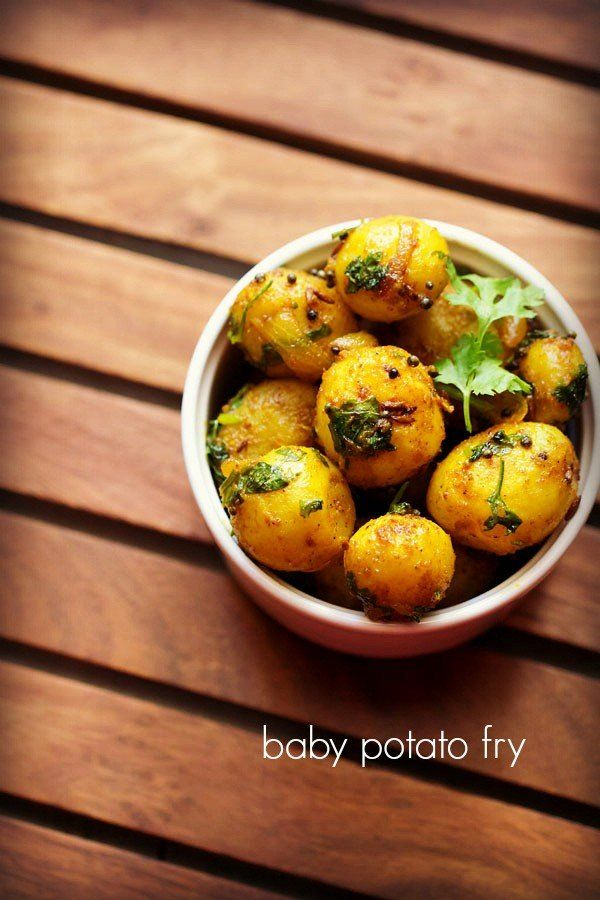 baby potato fry recipe with step by step pics - homely south indian style baby potato fry recipe.    i make this potato fry as a side dish with sambar or rasam. so this time again i