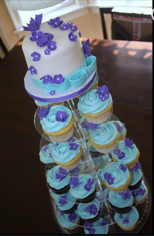 Teal And Purple Wedding Cake Ideas 48090 Cupcake Cake Purp