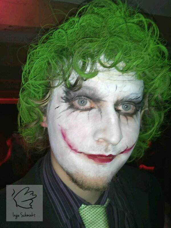 Joker face paint by IngeSchminkt