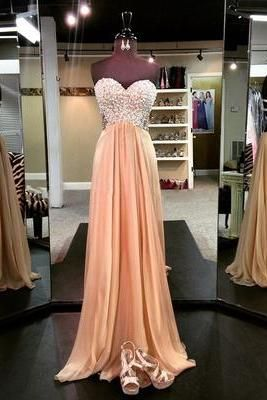 Charming Prom Dress,Sleeveless Chiffon Formal Evening Dress,Formal Gown F688