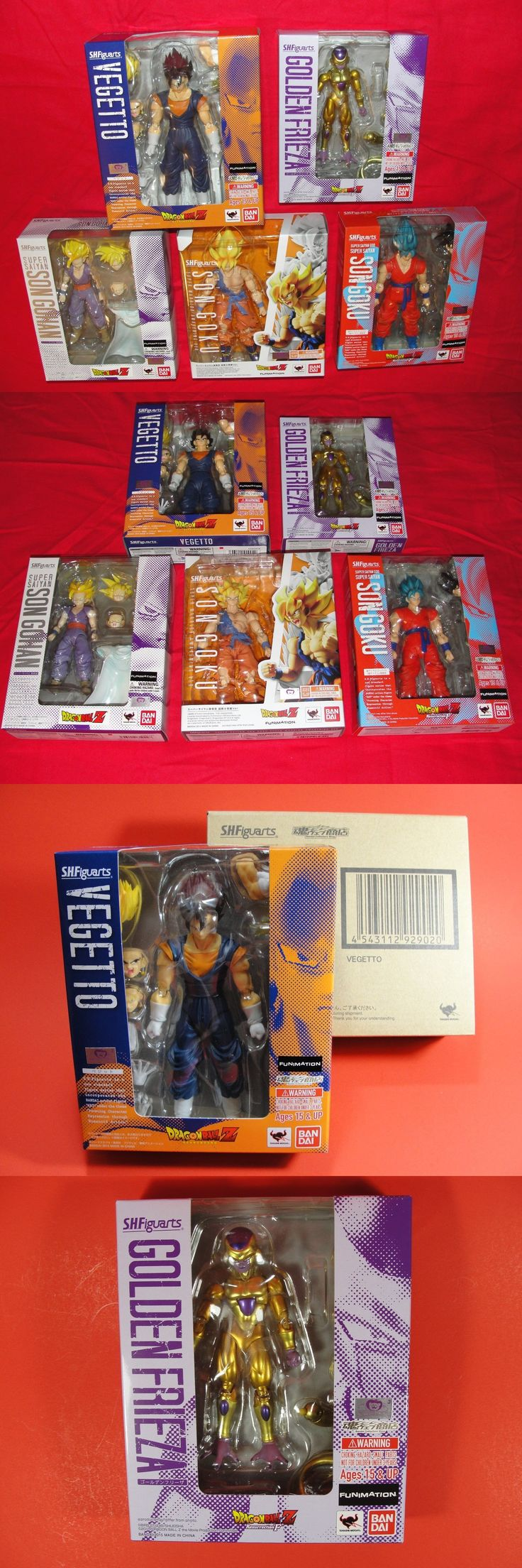 Other TV Movie Character Toys 2622: Bandai S.H. Figuarts Dbz 5 Figure Lot Dragonball Z Vegetto, Goku, Friezai, Gohan -> BUY IT NOW ONLY: $239.99 on eBay!