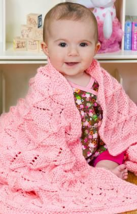 Precious Baby Blanket free knitting pattern.