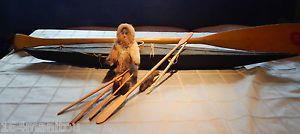 Inuit Eskimo Art Museum Replica: Eastern Canadian Arctic MODEL KAYAK ca.1960 | eBay