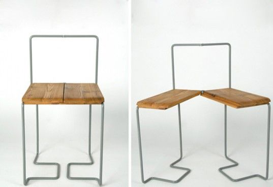 the Schair Chair is the perfect way to show your guests you care by turning a single seat into two. http://inhabitat.com/nyc/10-transforming-furniture-designs-perfect-for-tiny-nyc-apartments/transforming-furniture-desi/?extend=1