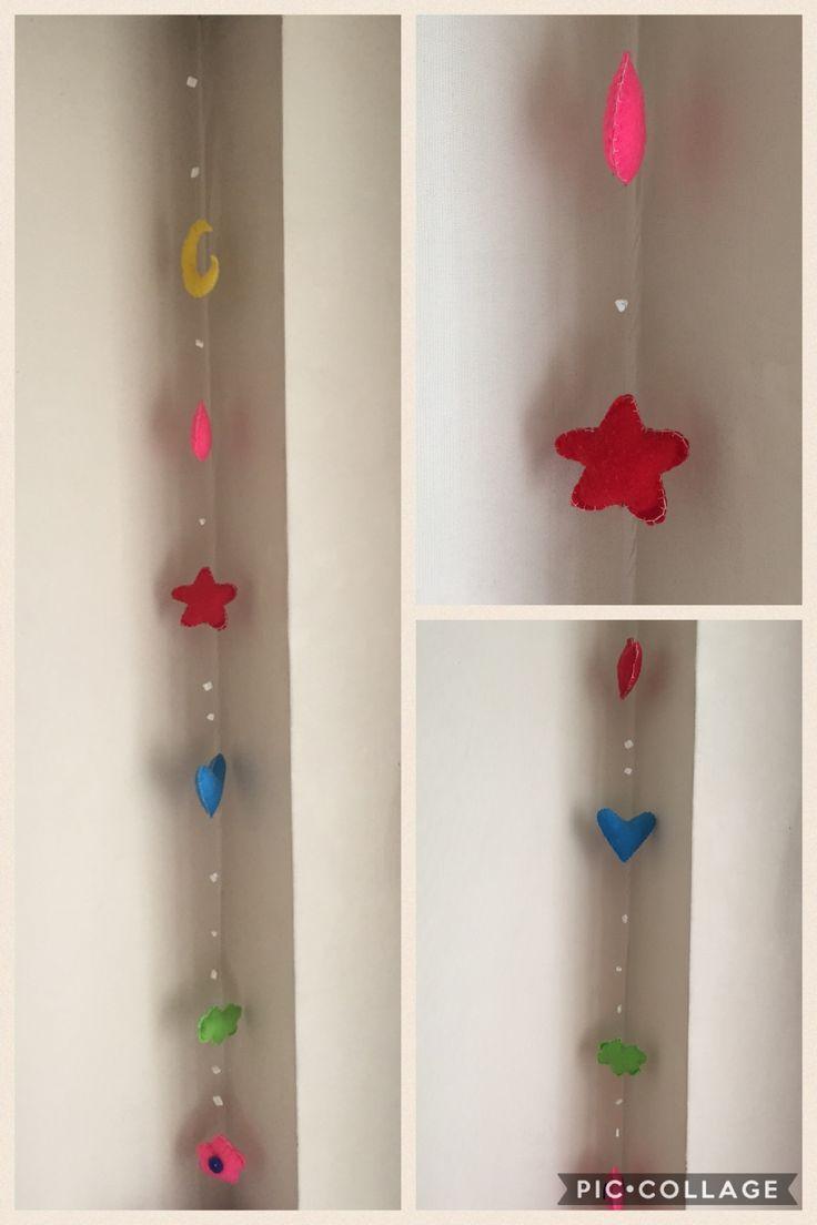Colgante - móvil guagua -  paño lenci - DIY - decoración