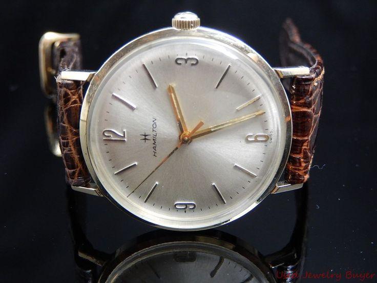 Vintage 1970 10k Hamilton Yellow Gold Mens Watch Presented