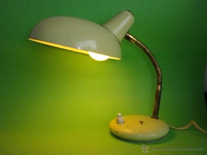 Vintage: PRECIOSO FLEXO LAMPARA VINTAGE SOBREMESA BLANCO FUNCIONANDO PERFECTO VINTAGE ORIGINAL AÑOS 60 - Foto 2 - 48481839