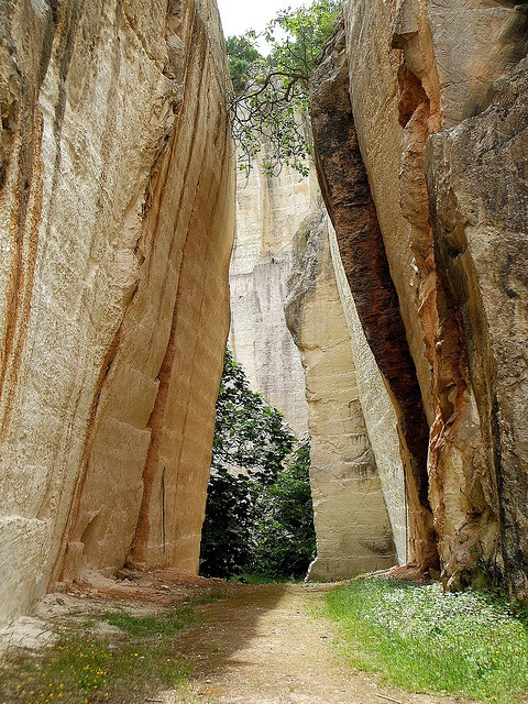 Into the Auditorium - the Santa Ponca Quarry, Menorca, Spain