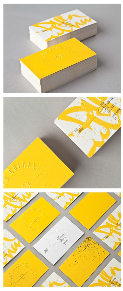 Amazing bold & bright yellow business cards
