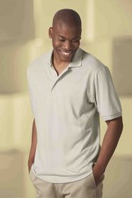 Promotional Products Ideas That Work: Men's mapping textured polo. Get yours at www.luscangroup.com