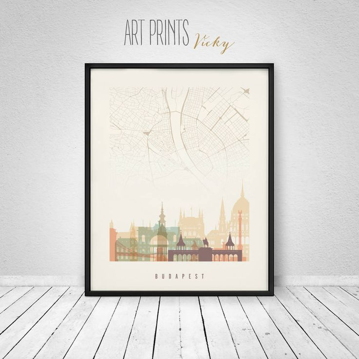 Budapest wall art map print, Poster, Budapest skyline, Hungary, City poster, Travel decor, Home Decor, Digital Print, ArtPrintsVicky. by ArtPrintsVicky on Etsy