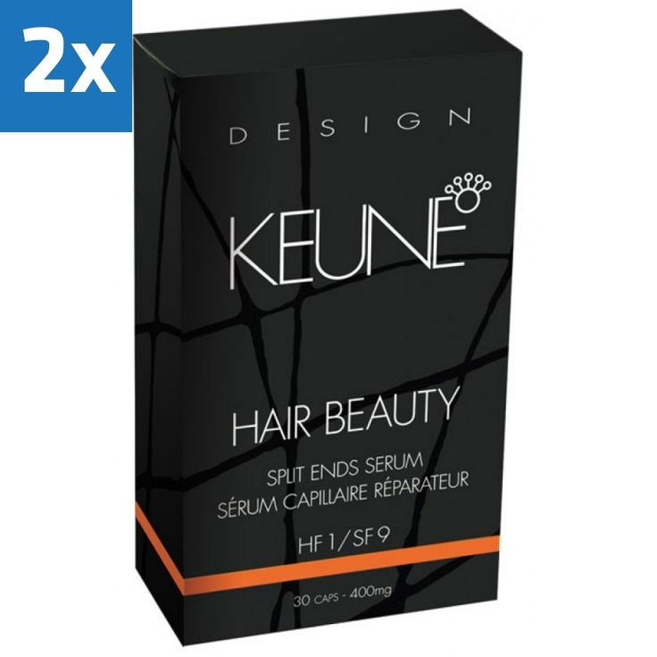 2x Keune Hair Beauty 30caps  Description: Geconcentreerd serum voor beschadigd haar en gespleten haarpunten. Gemakkelijke éénmalige toepassing. Het serum is bijzonder effectief en aanzienlijk dikker dan de meeste andere serums. Serum met hittebescherming.  Price: 29.60  Meer informatie  #salon #schoonheid #verzorging #salontopper